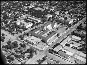 Primary view of object titled '[Campus - Aerial - 10/1951]'.