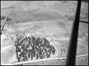 Primary view of object titled '[Campus - Aerial - Golf Clubhouse - 8/1947]'.