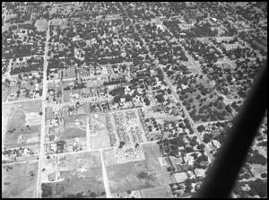 Primary view of object titled '[Campus - Aerial - Vet Village - 1947]'.