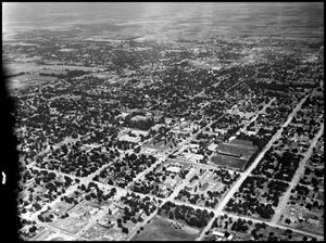 Primary view of object titled '[Aerial Photograph of the North Texas State College Campus, 1947]'.