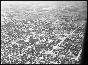 Primary view of object titled '[Campus - Aerial - Ave. C - 1947]'.
