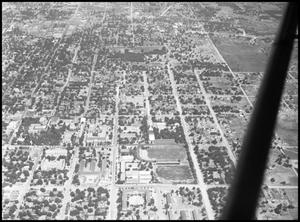 Primary view of object titled '[Campus - Aerial - Welch St. - 1947]'.