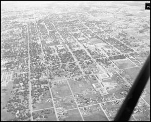 Primary view of [Aerial Photograph of North Texas State College, September 1949]