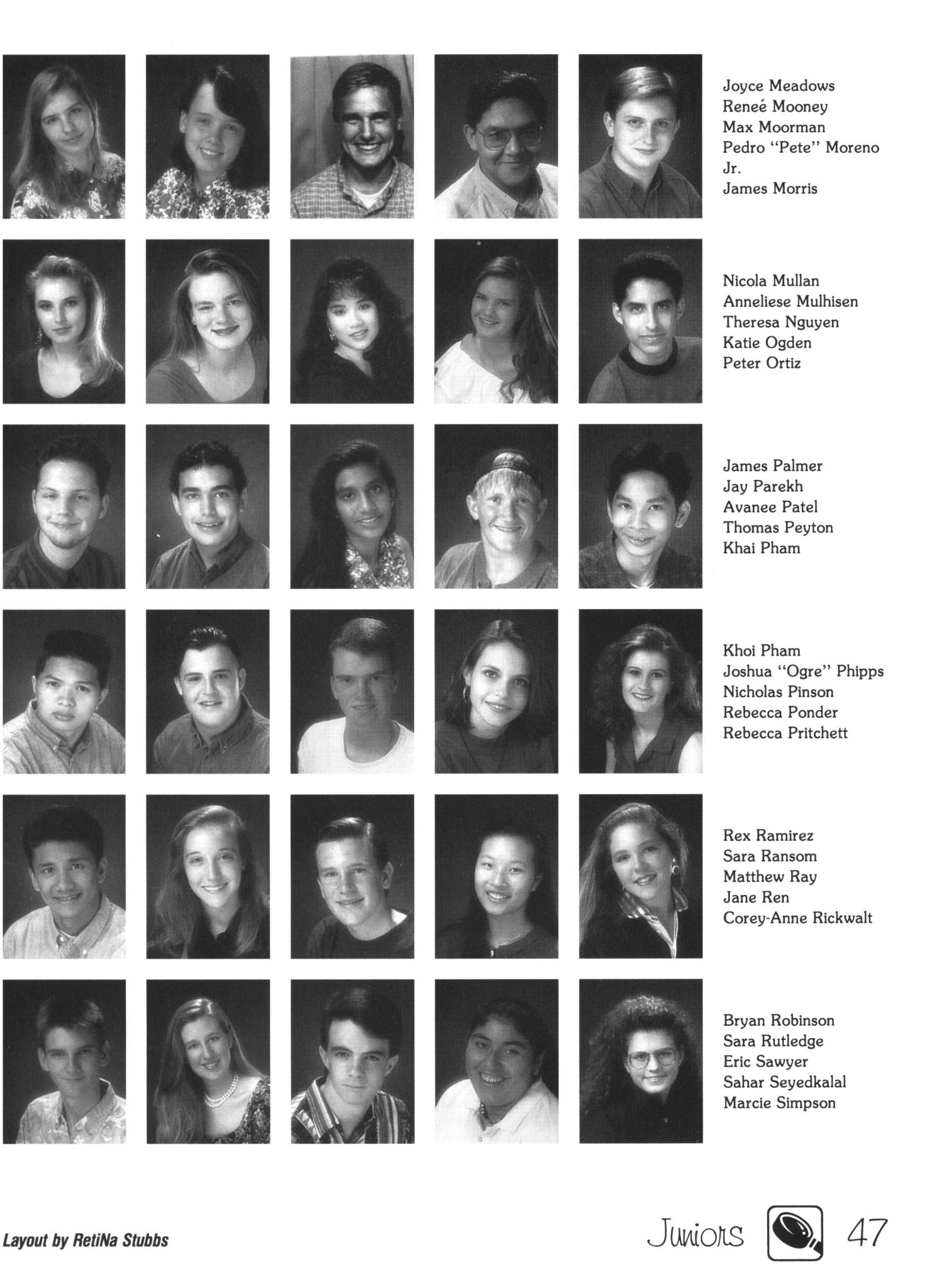 the witness  yearbook of the texas academy of mathematics and science  1993 - page 47