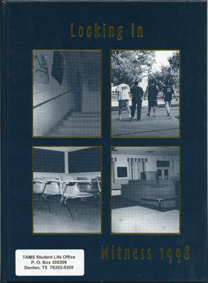 Primary view of object titled 'The Witness, Yearbook of the Texas Academy of Mathematics and Science, 1998'.