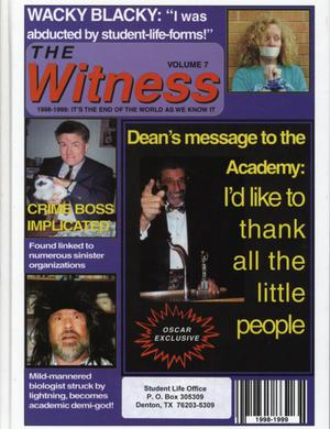 Primary view of object titled 'The Witness, Yearbook of the Texas Academy of Mathematics and Science, 1999'.