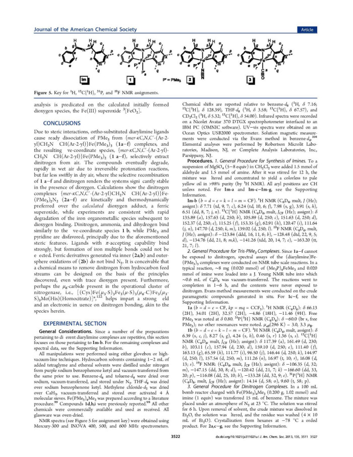 Selective Extraction of N2 from Air by Diarylimine Iron Complexes ...