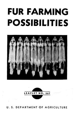 Primary view of object titled 'Fur Farming Possibilities.'.