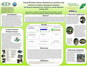 Primary view of object titled 'Using Wireless Sensor Network to monitor and control an indoor Aquaponic System'.