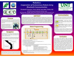 Primary view of object titled 'Robotics: Cooperation of Autonomous Robots Using Bluetooth Communication'.