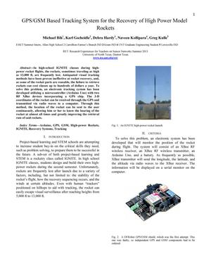 Primary view of object titled 'GPS/GSM Based Tracking System for the Recovery of High Power Model Rockets'.