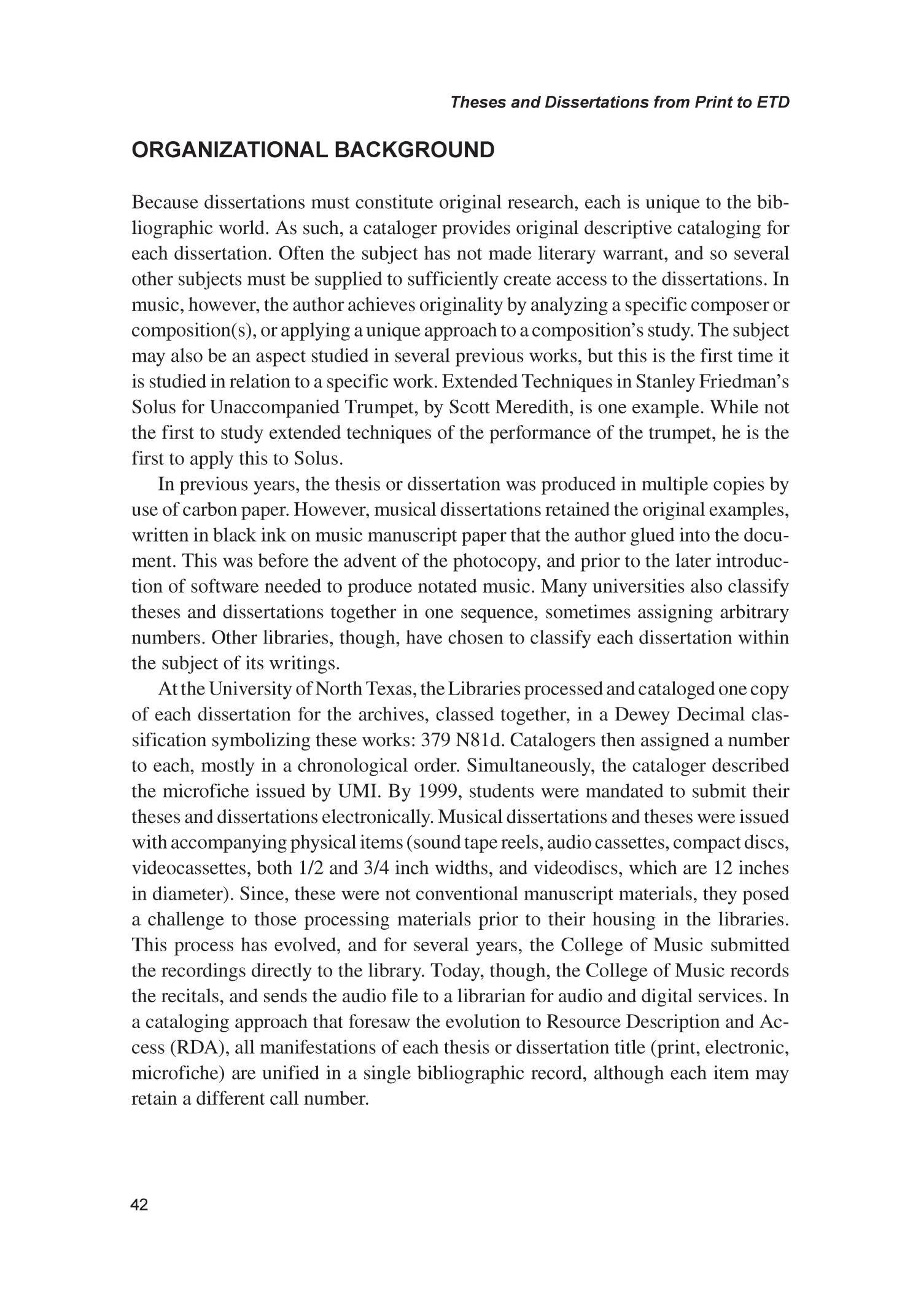 Dissertation database music