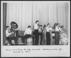Primary view of object titled '[Band Performing on Stage]'.