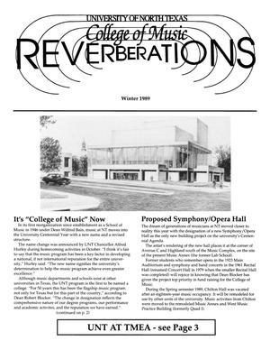 Reverberations, Winter 1989