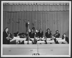 "Primary view of object titled '[Photograph of Laboratory Dance Band Performing at ""Jazz Frolic""]'."