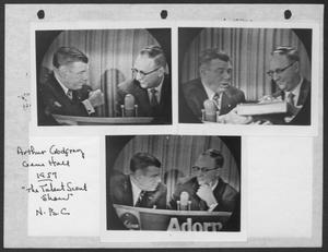 Primary view of object titled '[Arthur Godfrey and Gene Hall on The Talent Scout Show]'.