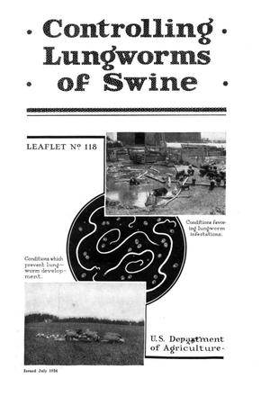 Primary view of object titled 'Controlling Lungworms of Swine.'.