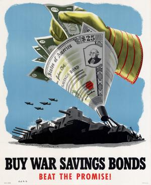 Primary view of object titled 'Buy war savings bonds : beat the promise!'.
