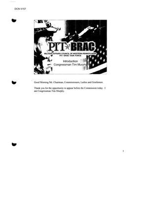 Primary view of object titled 'State Input – (PA) National Capital Regional Hearing 07/07/2005'.