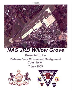 Primary view of object titled 'State Input on NAS JRB Willow Grove, PA for Regional Hearing dated July 7, 2005 Part 1'.