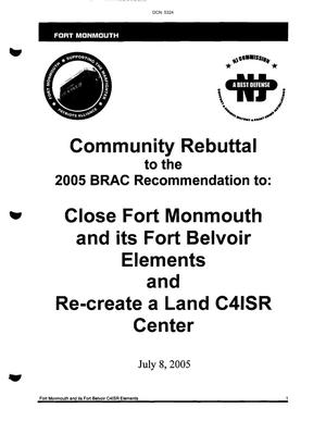 Primary view of object titled 'Community Rebuttal to the 2005 BRAC Commission From Fort Monmouth and Fort Belvoir'.