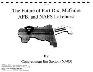 Primary view of object titled 'The Future of Fort Dix, McGuire AFB, and NAES Lakehurst'.