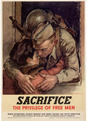 Primary view of object titled 'Sacrifice : the privilege of free men.'.