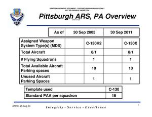 Primary view of object titled 'Overview Pittsburgh ARS, Pennsylvania'.