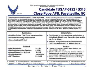 Thumbnail Image Of Item Number 1 In Quad Chart USAF 0122 Pope Air Force