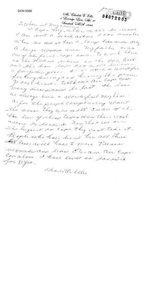 Primary view of object titled 'Community Correspondence  -  Letters from Otis AFB'.