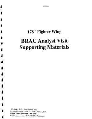Primary view of object titled 'Regional hearing state input in Ohio for the 178th Fighter Wing'.