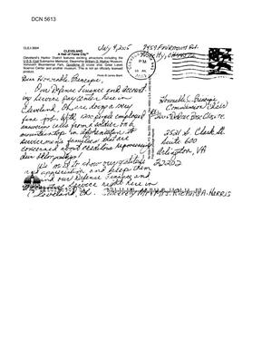 Primary view of object titled 'Community Correspondence  -   Letters from Concerned Citizens - DFAS -Cleveland'.