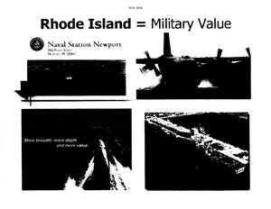 Primary view of object titled 'Rhode Island = Military Value Slide Show'.