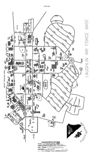 Primary view of object titled 'Map of Laughling Air Force Base'.