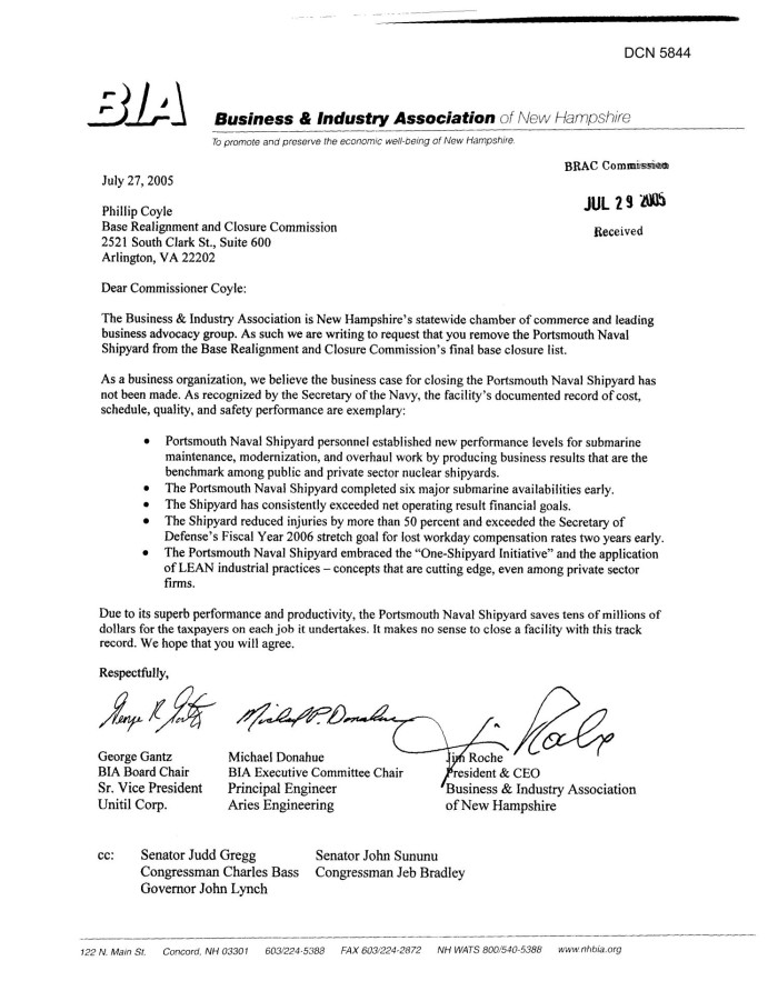 primary view of object titled coalition correspondence letter dtd 07272005