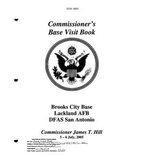 Primary view of object titled 'Commissioner's Base Visit Book - Brooks City Base, Lackland AFB, DFAS San Antonio'.