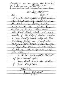 Primary view of object titled 'Letter from a concerned citizen regarding Fort Huachuca'.