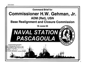 Primary view of object titled 'Base Visit Input - Command Brief to Commission - H.W. Gehman Jr.'.