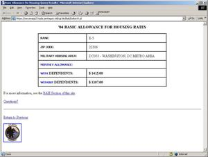 Primary view of object titled '2004 Basic Allowance for Housing Rates'.