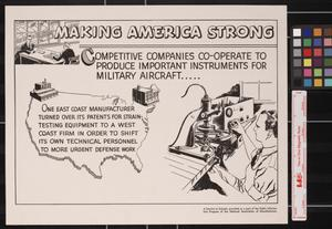Primary view of object titled 'Making America strong : competitive companies co-operate to produce important instruments for military aircraft.'.
