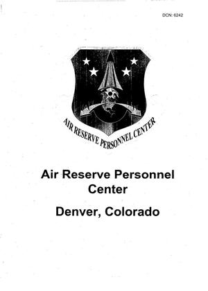 Primary view of object titled 'AF50 - Base Input - Air Force - Air Reserve Personnel Center Denver - Aurora - CO'.