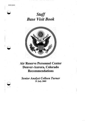Primary view of object titled 'Base Visit Book - Air Force - Air Reserve Personnel Center Denver - Aurora - CO'.