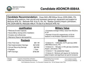 Primary view of object titled 'Candidate Recommendation - DON-0084A - Attachment to March 10 Infrastructure Executive Council Meeting'.
