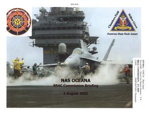 Primary view of object titled 'Naval Air Station Oceana: BRAC Commission Briefing'.