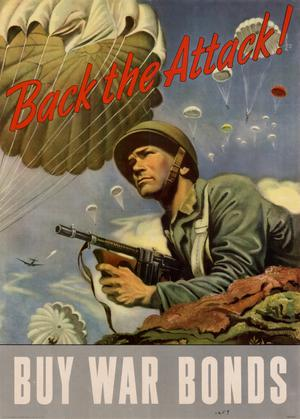 Primary view of object titled 'Back the attack! : buy war bonds.'.