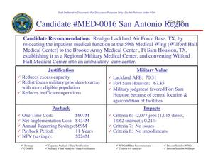 Primary view of object titled 'Candidate Recommendation - MED-0016 - Attachment to March 10 Infrastructure Executive Council Meeting'.