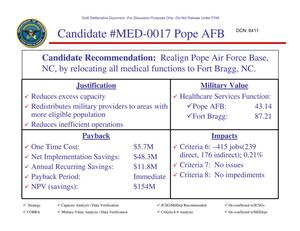 Primary view of object titled 'Candidate Recommendation - MED-0017 - Attachment to March 10 Infrastructure Executive Council Meeting'.