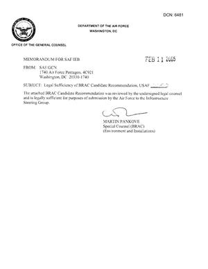 Candidate Recommendation - USAF -0050 - Attachment to March 10 Infrastructure Executive Council Meeting