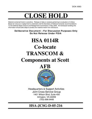 Primary view of object titled 'Candidate Recommendation - HSA -0114R - Attachment to April 18 Infrastructure Executive Council Meeting'.
