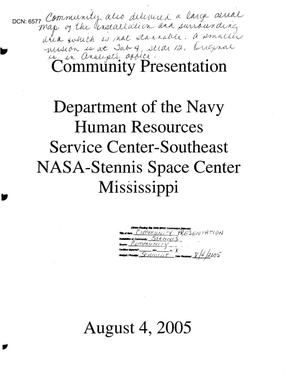 Primary view of object titled 'Departmanet of the Navy, Human Resources Service Center-Southeast'.